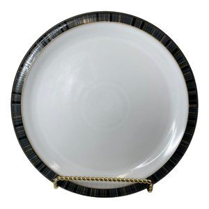 Denby Jet Stripes Dinner Plate Black Multicolored